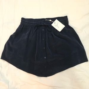 NWT! Joie Navy Silk Skirt
